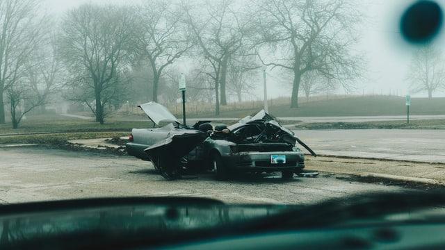 רכב לאחר תאונת דרכים קשה - אילוסטרציה